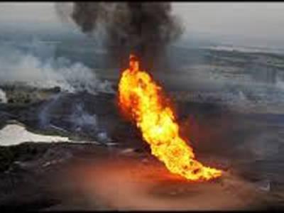 ڈیرہ بگٹی :گیس پائپ لائن دھماکے سے تباہ ،کئی علاقوں کو فراہمی معطل