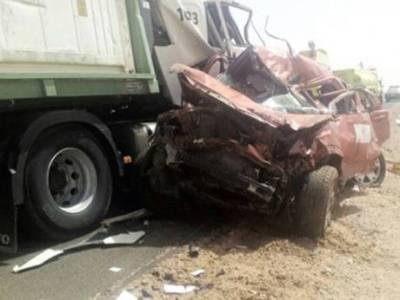 سعودی عرب میں ٹریفک حادثہ، پاکستانی خاتون جاں بحق، خاوند اور 3بچے زخمی
