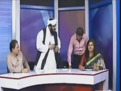 روزے کا تقدس پامال ، ماروی سرمد اور حافظ حمداللہ میں نجی ٹی وی کے پروگرام میں شدید لڑائی ، فریقین کی جانب سے ایک دوسرے پر خوب تبرا بھیجا گیا