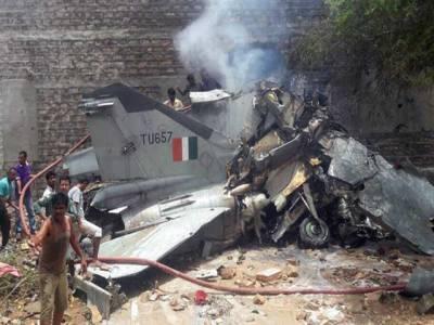 بھارت کا لڑاکا طیارہ جودھ پور میں گر کر تباہ