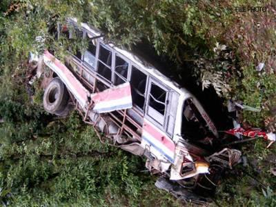 ڈھوڈیال میں مسافر بس اور کار میں تصادم ،دو افراد جاں بحق