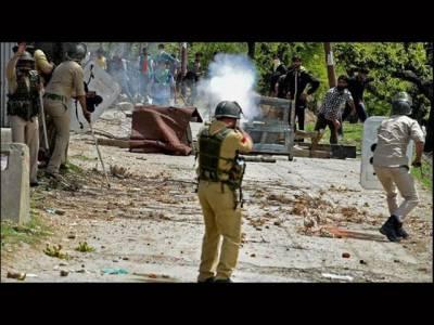 کشمیر میں گیارہویں روز بھی کرفیو،مظاہرے،کشیدگی