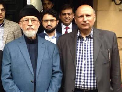 لندن میں طاہر القادری اور چوہدری سرورکی ملاقات ،حکومت مخالف تحریک پر تبادلہ خیال