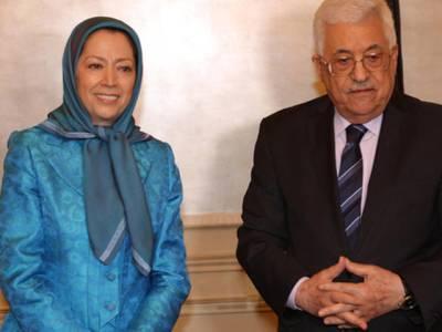 فلسطینی صدر محمود عباس کی مریم رجوی سے ملاقات پر ایران کا احتجاج