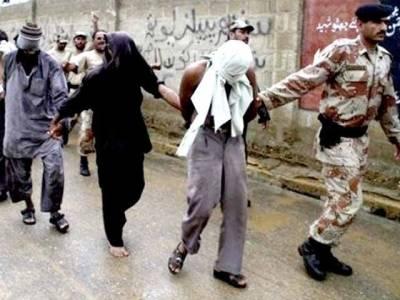 رینجرز کی کراچی میں کارروائیاں : سنگین جرائم میں ملوث سیاسی جماعت کے ملزم سمیت چار افراد گرفتار