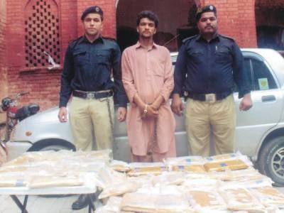 سی آئی اے لاہور نے بند روڈ سے منشیات فروش گرفتار کر کے اعلیٰ کوالٹی کی 51کلو چرس اور چوری کی گاڑی برآمد کر لی