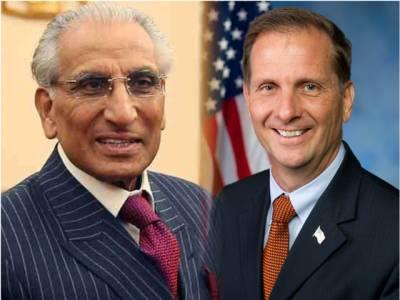 امریکی رکن کانگریس کی طارق فاطمی سے ملاقات ، پاکستانی قوم اور مسلح افواج کی کوششوں اور قربانیوں کا اعتراف کرتے ہیں:کرس سٹیورٹ