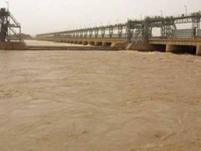 دریائے سندھ میں بڑا ریلا،گڈو اور سکھربیراج پر پانی کی سطح میں مسلسل اضافہ