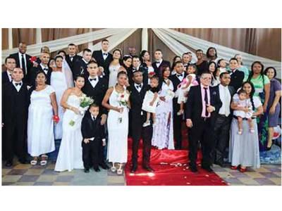 کولمبیا کی جیل میں 17 قیدیوں کی اجتماعی شادیاں