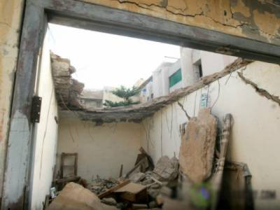 یوحنا آباد میں مکان کی چھت گر گئی ، 2افراد جاں بحق ، دو زخمی