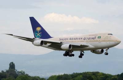 سعودی ایئرلائن کے طیارے کی اچانک پاکستان میں لینڈنگ