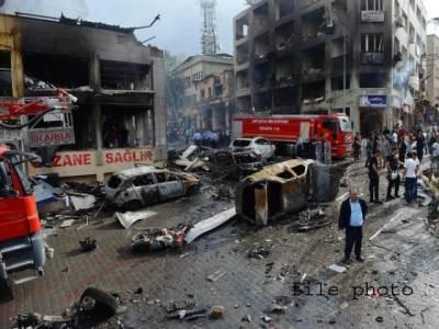 ترکی میں حکمران جماعت کے دفتر کے باہر دھماکہ ،27افراد زخمی