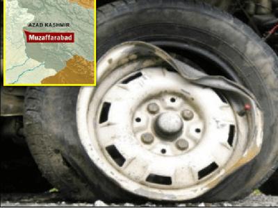 مظفر آباد، جیپ کھائی میں جاگری،5مسافر جاں بحق