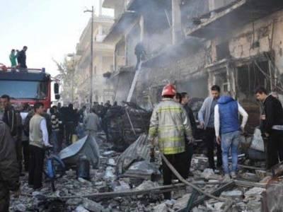 شام کے جنوبی صوبے میں خود کش دھماکہ،وزیر سمیت12افراد ہلاک