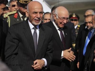 سرتاج عزیز کی افغان صدر اشرف غنی سے ملاقات ،دوطرفہ تعلقات اور باہمی دلچسپی کے امور پر تبادلہ خیال