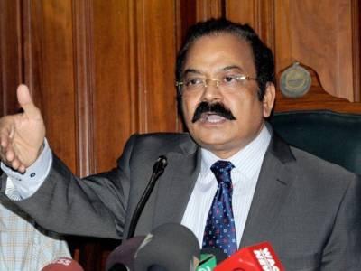 """وزیر قانون پنجاب رانا ثناءاللہ نے تحریک انصاف میں"""" مائنس ون"""" کی تجویز دے دی"""