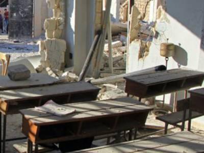 شام،ادلب میں سکول پر بم گرنے سے 22بچوں سمیت 28جاں بحق