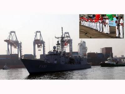 ترک بحریہ کا جہاز خیر سگالی دورے پر کراچی پہنچ گیا