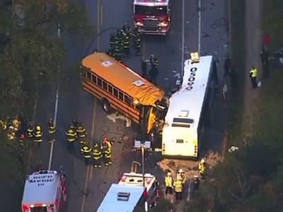 امریکی شہر بالٹی مو ر میں سکول وین اور مسافر بس میں تصادم ، ڈرائیوروں سمیت 6افراد ہلاک ، 10زخمی