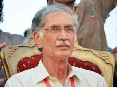 عمران خان جلسہ گاہ کیلئے روانہ،پرویز خٹک ،شیخ رشید قافلے کے ہمراہ پنڈال پہنچ گئے