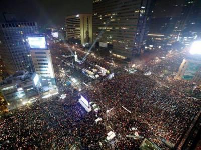 جنوبی کوریا، صدر کیخلاف تاریخی احتجاج، 13 لاکھ افراد شریک