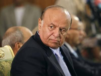 یمنی صدر منصور ہادی اچانک دورے پر عدن پہنچ گئے