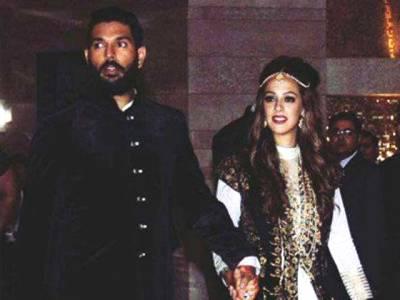 یوراج سنگھ کی بالی ووڈ اداکارہ ہیزل کیچ کے ساتھ شادی ہوگئی