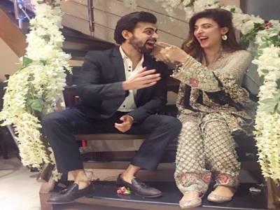 فرحان سعید اور عروہ حسین کی شادی کی پہلی ڈھولکی کی تقریب ،تصاویر منظر عام پر آگئیں