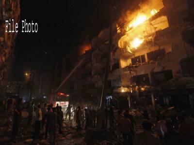 کراچی: بلاول ہاﺅس کے قریب کلفٹن میں لگی آگ پر قابو پا لیا گیا