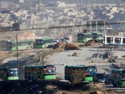 مشرقی حلب سے باغیوں کے زیر قبضہ علاقوں سے شہریوں کا انخلاءشروع ہو گیا