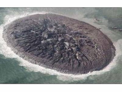 گوادرکے ساحل کے قریب سمندرمیں نمودارہونےوالاجزیرہ غائب ہوگیا