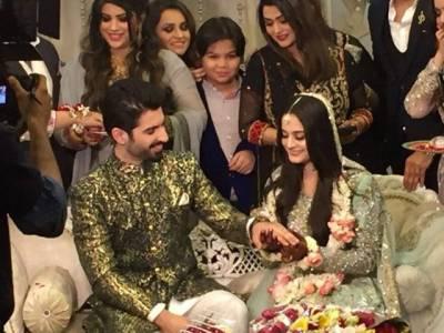اداکار منیب بٹ اور اداکارہ ایمن خان حقیقی زندگی میں ہمسفر بن گئے