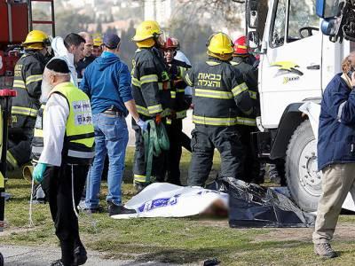 اسرائیل کے شہر یروشلم میں ڈرائیور نے اسرائیلی فوجیوں پر ٹرک چڑھا دیا،4 افراد ہلاک