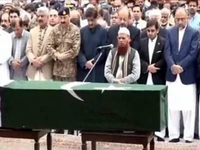 گورنر سندھ جسٹس (ر) سعید الزمان صدیقی کی نماز جنازہ ادا کر دی گئی، وزیراعلیٰ سندھ سمیت سیاسی و عسکری رہنماﺅں کی شرکت