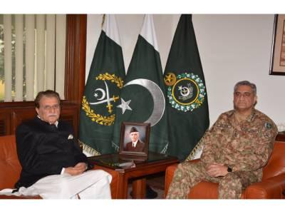 آرمی چیف سے وزیراعظم آزاد کشمیر کی ملاقات، سرحد پار سے ہر طرح کے خطرات سے اچھی طرح نمٹنا جانتے ہیں: جنرل قمر جاوید باجوہ