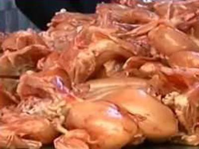 پنجاب فوڈ اتھارٹی کے چھاپے،ناقص چکن کے خلاف کریک ڈاؤن، 3120کلومضر صحت گوشت تلف، 212دوکانوں کو وارننگ جاری