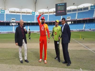 پی ایس ایل،لاہور قلندرز کا اسلام آباد یونائیٹڈ کیخلاف ٹاس جیت کر فیلڈنگ کا فیصلہ