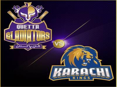 کوئٹہ گلیڈی ایٹرز نے کراچی کنگز کو 7 وکٹوں سے شکست دیدی