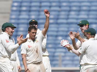 """اوکیف کی پھر """"بمباری""""۔۔۔ آسٹریلیا نے پہلے ٹیسٹ میچ میں بھارت کو 333 رنز کی عبرتناک شکست دیدی"""