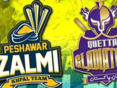 پاکستان سپر لیگ کا فائنل کھیلنے والی کوئٹہ گلیڈی ایٹرزکی ٹیم میں 4 اور پشاورزلمی کی ٹیم میں ایک تبدیلی کی گئی