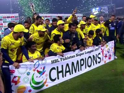 پی ایس ایل سیزن ٹو ،پشاور زلمی نے ٹرافی اپنے نام کرلی،کوئٹہ گلیڈی ایٹرز کو 58 رنز سے شکست
