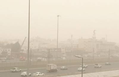 سعودی عرب میں گرد آلود ہواؤں نے حدنگاہ صفر کردی، ریت کا طوفان،شہریوں کو ضروری اقدامات کرنے ، گھروں سے نہ نکلنے کی ہدایت
