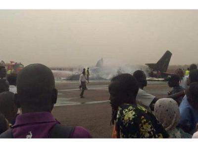 جنوبی سوڈان کے ایئرپورٹ پر طیارہ گر کر تباہ،کئی افراد زخمی،ہلاکتوں کا بھی خدشہ
