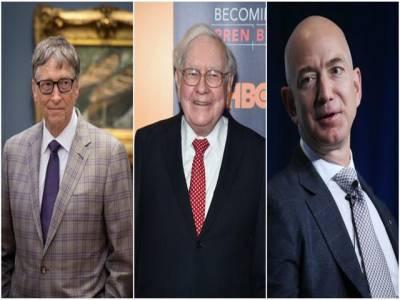 ارب پتی افراد کی فہرست جاری، بل گیٹس رواں سال بھی دنیا کے امیر ترین فرد قرار، امریکی صدر ڈونلڈ ٹرمپ کی 200 درجے تنزلی