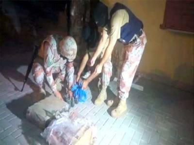 کراچی :رینجرز آپریشن،یونیورسٹی روڈ سفاری پارک سے اسلحہ کا بڑا ذخیرہ برآمد