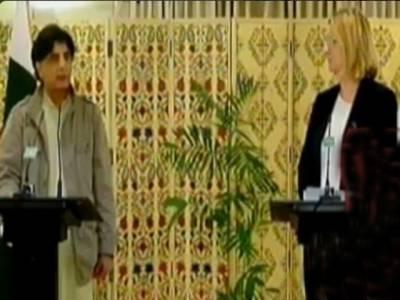 برطانیہ کیساتھ 2معاہدوں پر دستخط ہوئے :چودھری نثار،الطاف حسین پر کیسز میں قانونی تقاضے پورے کیے جائیں گے : برطانوی سیکرٹری داخلہ