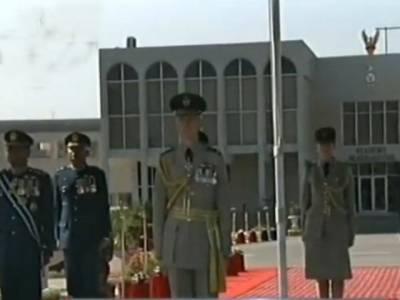 پاکستان نے دہشتگردی کیخلاف جنگ میں بے پناہ کامیابیاں حاصل کیں : برطانوی ایئر چیف مارشل کا ریسالپور میں پاسنگ آﺅٹ پریڈ سے خطاب