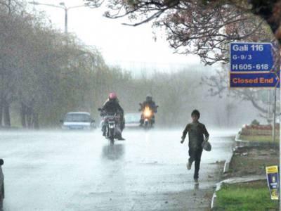 جڑواں شہروں اور مری میں تیز آندھی اور بارش ، مختلف شاہراہوں پر سیلابی صورتحال اور بجلی کا نظام درہم برہم ,درخت جڑوں سے اکھڑ کر شاہراہوں پر گرگئے ، کئی گاڑیاں پھنس گئیں