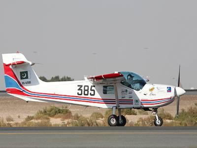 پاک فضائیہ کے تربیتی طیارے کی کریش لینڈنگ ،پائلٹ محفوظ رہا