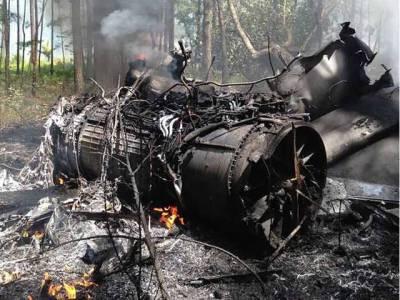 امریکی جنگی طیارہ گر کر تباہ ، پائلٹ محفوظ رہا